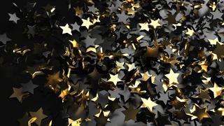 Black Gold Stars Background