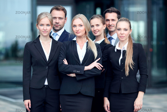 Successful businesspeople team
