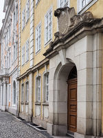 Historic buildings in the old town of city Goerlitz, Saxony, Germany
