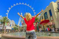 Las Vegas woman ferris wheel