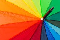 Colorful umbrella - fashon background