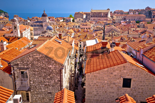 Dubrovnik rooftops and historic landmarks view