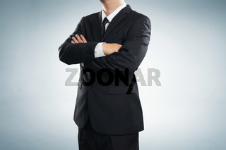 Close up of buisnessman in suit and tie