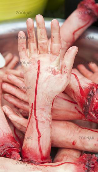 Fake human hands