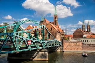 Wroclaw, Dominsel mit Dombrücke