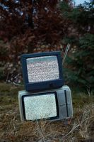 TV no signal in grass