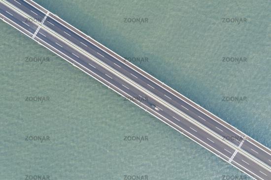 road of bridge on lake