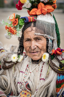 Indigenous Indian woman on festival