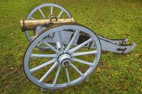 Restored historical cannon in Eckernfoerde