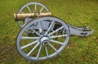 Restaurierte historische Kanone in Eckernfoerde
