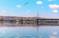 Halic Metro Bridge, beautiful sea view, Istanbul