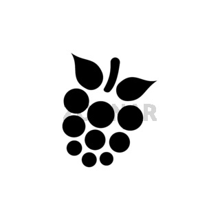 Blackberry. Isolated icon. Fall fruits and food vector illustration