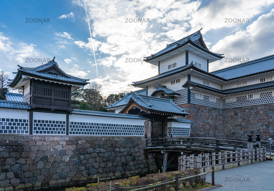 Kanazawa Castle in Kanazawa, Ishikawa Prefecture, Japan