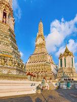 Beautiful view of War Arun. Bangkok, Thailand.