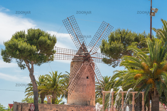 Old windmill in the Spanish style