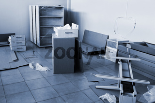 packed furniture to a new and office repair