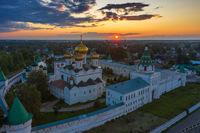 Ipatievsky Monastery in Kostroma sunset