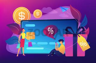 Debit card concept vector illustration.