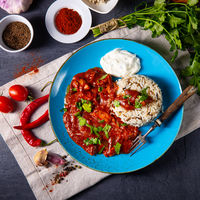 Indian Chicken Tikka Masala with wild rice