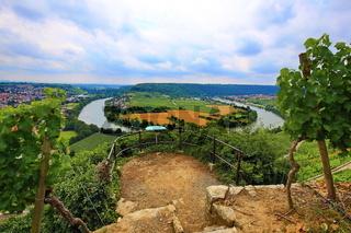 Mundelsheim am Neckar eine Weinregion bei Stuttgart