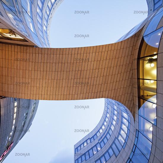 Kö bend, architect Daniel Liebeskind, Dusseldorf, North Rhine-Westphalia, Germany, Europe