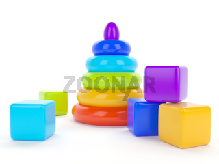 toy children's pyramid for the development of intelligence and motility