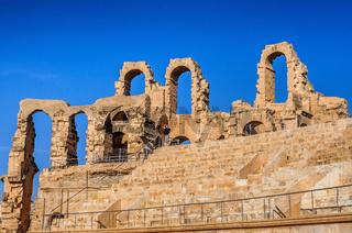 Ruins of the largest coliseum in North Africa. El Jem,Tunisia, UNESCO