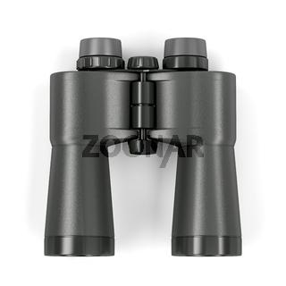 Black binoculars, top view