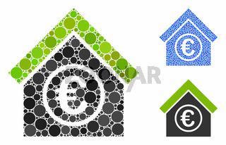 Euro Financial Center Composition Icon of Round Dots