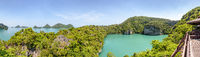 Panorama Thale Nai or Blue Lagoon (Emerald Lake)
