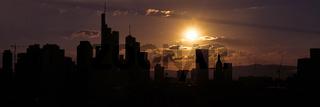Frankfurt am Main Silhouette Skyline Panorama