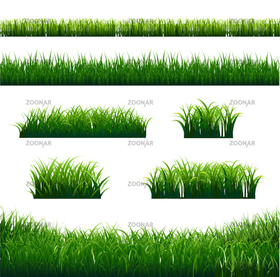 Green Grass Borders Big Set