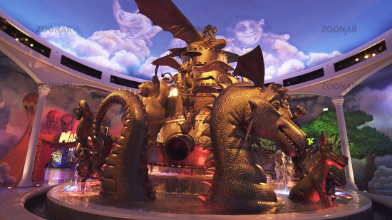 Territory of the amusement DreamWorks in Motiongate at Dubai Parks and Resorts
