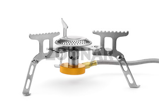 Foldable camping gas burner
