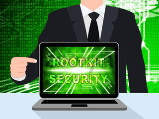 Rootkit Security Data Hacking Protection 3d Illustration