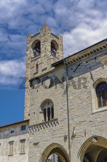 Bergamo, Italy Old Town civic tower.