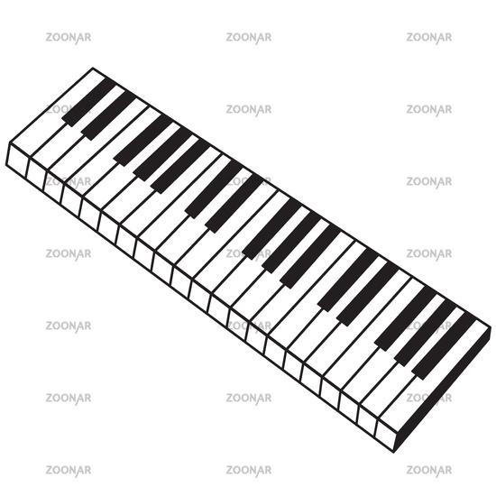 Musical instrument keyboard