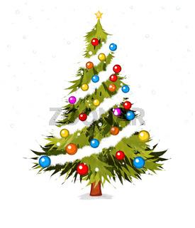Watecolor Christmas tree