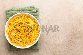Creamy Pumpkin Alfredo Fettuccine