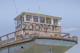 Führerhaus des ehemaligen Last- und Güterschiffs Möve, Konstanz