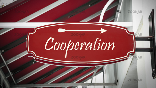 Street Sign to Cooperation