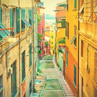 Old downhill street