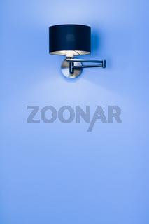 Silver lamp in a room, elegant modern home decor lighting