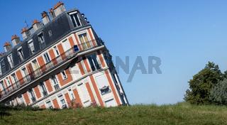 Sinking House  Montmartre Paris