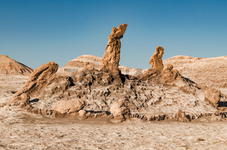 Beautiful salt sculptures in Atacama desert, Chile
