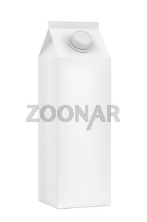 Blank packaging for milk