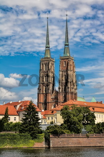 Wroclaw, Dominsel mit Kathedrale