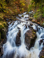Autumn at the Waterfalls on the River Braan