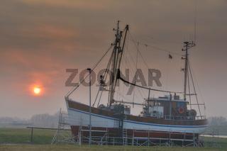 Greetsiel am Morgen,Nordsee,Ostfriesland,Niedersachsen,Deutschland