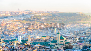 View of Medina in fes morocco, photo as background